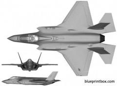 lockheed martin f 35a lightning ii model airplane plan