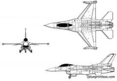 lockheed martin general dynamics f 16c fighting falcon model airplane plan