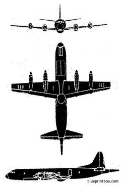 lockheed p3v 1 orion model airplane plan