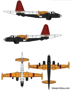 lockheed p 2v 7 neptune model airplane plan