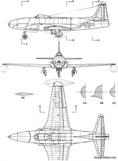 lockheed p 80 shooting star 2 model airplane plan