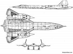lockheed sr 71 model airplane plan