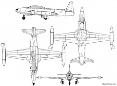 lockheed t 33 model airplane plan