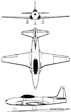 lockheed t 33 1948 usa model airplane plan