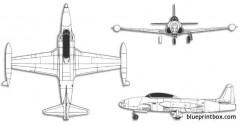 lockheed t 33 shooting star model airplane plan