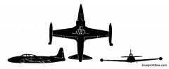 lockheed t 33a model airplane plan