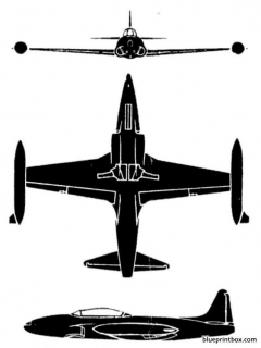 lockheed t 33a silverstar model airplane plan