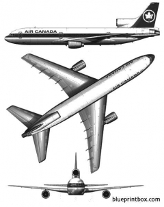 lockheed tristar l 1011 100 model airplane plan