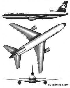 lockheed tristar l 1011 100 model airplane plan