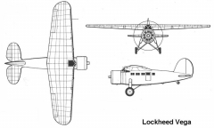 lockheed vega 3v model airplane plan