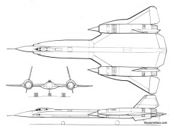 lockheed yf 12a model airplane plan