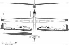 loravia lca 10 topaze model airplane plan