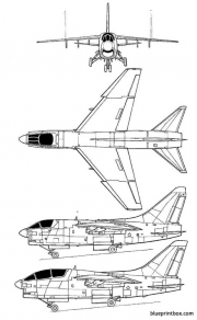 ltv a 7 corsair ii model airplane plan