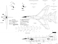 ltv f8u 3 crusader iii model airplane plan