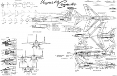 ltv f 8 crusader model airplane plan