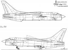 ltv f 8e crusader 2 model airplane plan