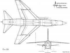 ltv f 8e crusader 3 model airplane plan