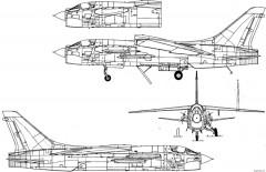 ltv f 8f crusader 12 model airplane plan