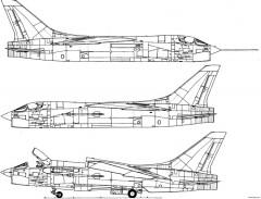 ltv f 8f crusader 13 model airplane plan