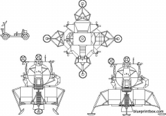 lunar modular lander model airplane plan