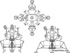 lunar module model airplane plan