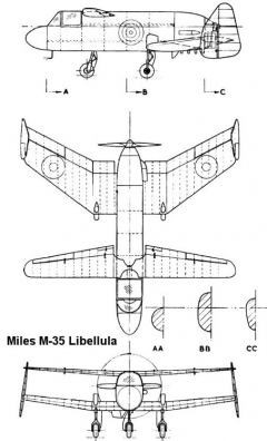 m35 libellula 3v model airplane plan