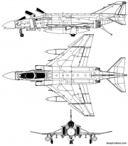 mac donnell f 4bphantom model airplane plan