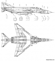 mac donnell f 4ephantom 2 model airplane plan