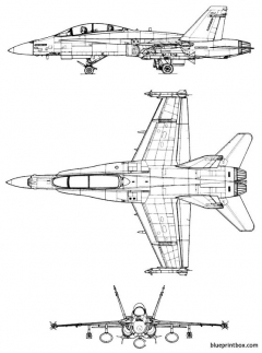mac donnell f a 18bhornet model airplane plan