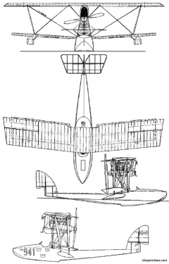 macchi m7 flyingboat model airplane plan