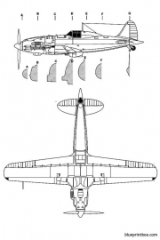 macchi mc 202 2 model airplane plan