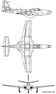 macdonnell fh 1 phantom model airplane plan
