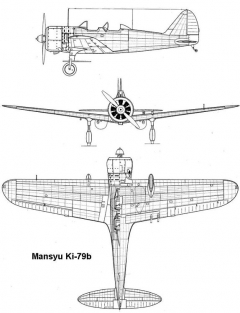 mansyu ki79 3v model airplane plan