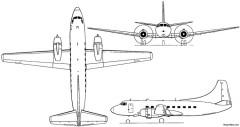 martin 4 0 4 1950 usa model airplane plan