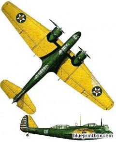 martin b 10 model airplane plan