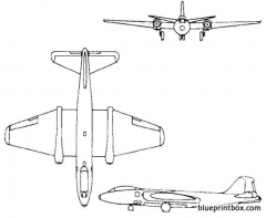 martin b 57 canberra model airplane plan
