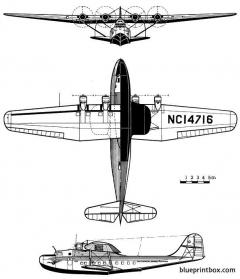 martin m 130 china clipper 2 model airplane plan