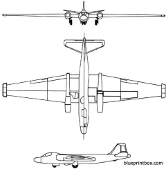 martin rb 57d 1956 usa model airplane plan