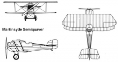 martinsyde 3v model airplane plan