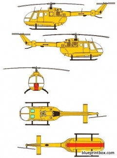mbb bo 105 model airplane plan