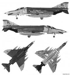 mcdonald douglas f4e phantom ii model airplane plan