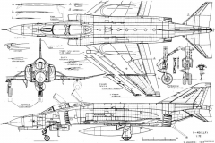 mcdonall f 4e phantom ii 2 model airplane plan