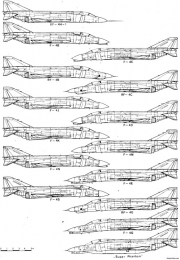 mcdonall f 4e phantom ii 3 model airplane plan