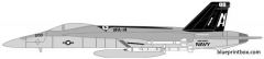 mcdonell douglas f a 18e super hornet model airplane plan