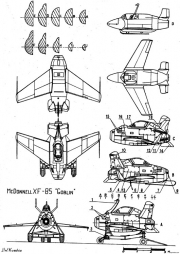 mcdonell douglas xf 85 goblin 2 model airplane plan