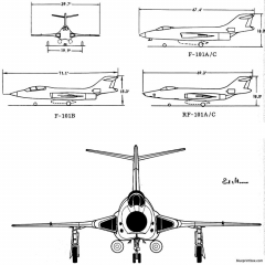 mcdonell f 101 10 model airplane plan