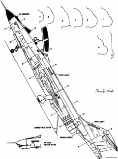 mcdonell f 101 9 model airplane plan