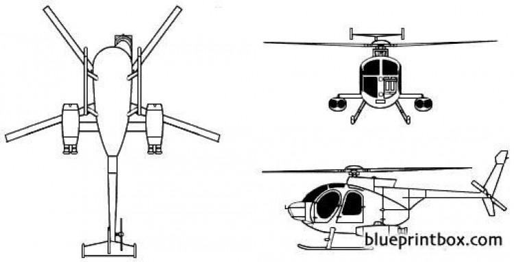 mcdonnel dougla hughes md 500 defender model airplane plan