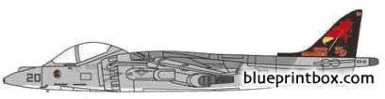 mcdonnel douglas av 8b harrier model airplane plan