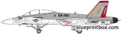 mcdonnel douglas ea 18g growler model airplane plan